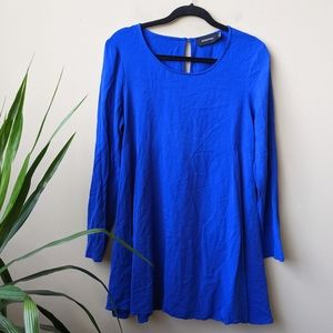 MINKPINK Royal Blue Pleated Shift Dress size M